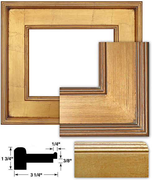 Wachtel gold plein air frames