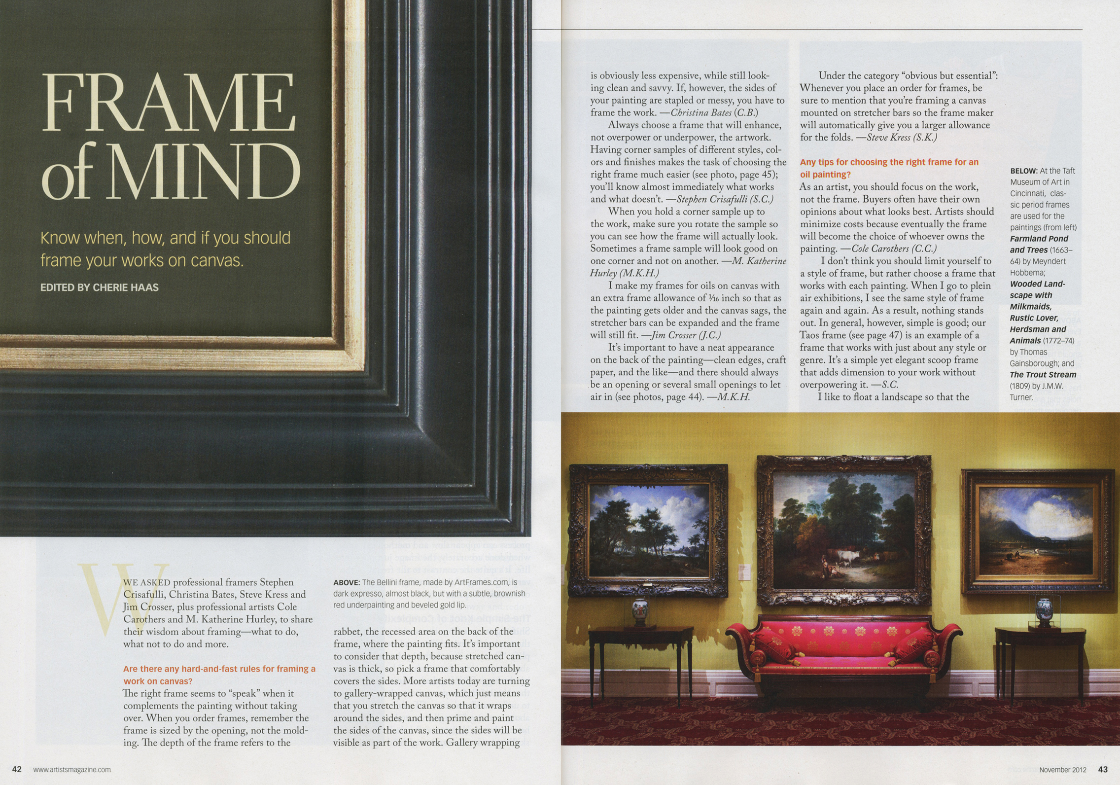 ArtFrames Artists Magazine Featuring ArtFrames.com